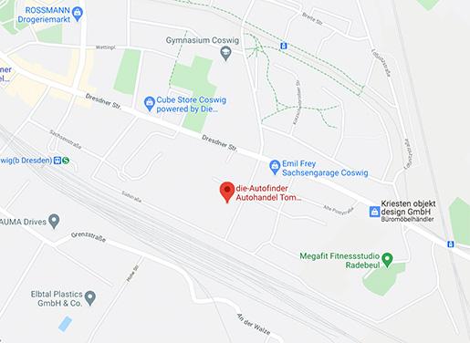die autofinder googlemaps karte